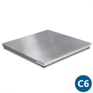 ETI C6 négy mérőcellás rozsdamentes acél mérőlap