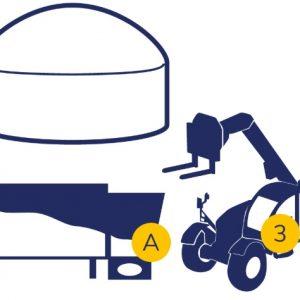 Biogáz adagoló konténer mérleg