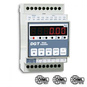 DGT1 többfunkciós, digitális jeltovábbító/mérlegműszer
