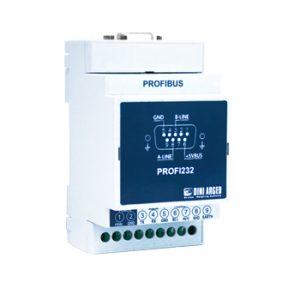 PROFI232 külső profibus interfész DIN sínre szerelhető házban
