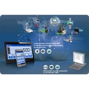 SCALEAPP szoftver mérlegek irányításához okostelefonról vagy tabletről
