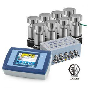 WKPTD-C4 digitális mérlegcella szett hídmérlegekhez érintőképernyős mérlegműszerrel
